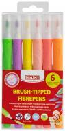 Фломастери-пензлики Brush-Tipped Jumbo 6 пастельних кольорів (0,5-6 мм) MX15238 Maxi