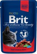 Корм Brit Premium з яловичиною та горошком 100 г