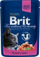 Корм Brit Premium з лососем і фореллю 100 г