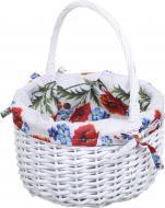 Кошик плетений з текстилем Tony Bridge Basket 28x16/35 см Easter 19-1-2