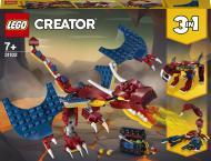 Конструктор LEGO Creator Вогняний дракон 31102