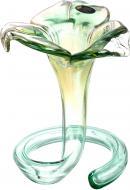 Подсвечник FLOWER 3P GREEN/HONEY White cristal