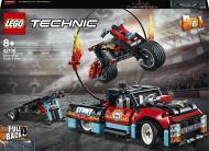 Конструктор LEGO Technic Каскадерська вантажівка й мотоцикл 42106