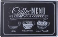 Килимок для сервірування Coffee menu 43,5x28 см чорний Flamberg