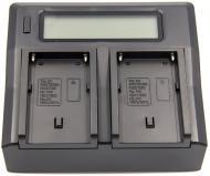 Зарядний пристрій PowerPlant Dual Sony NP-F970 для двох акумуляторів (CH980222)