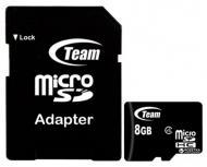 Карта памяти Team microSDHC 8 ГБ Class 4 (TUSDH8GCL403)