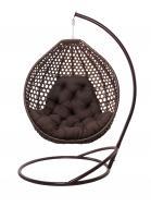 Кресло-кокон Колибри 1200х900х1040 см коричневый