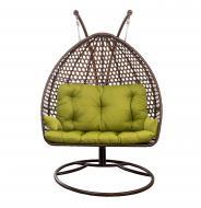 Кресло-кокон Indigo Мишель 1370х700х1360 мм коричневый
