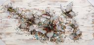 Картина Бабочки пастельные 64x130 см