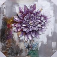 Картина Пион фиолетовый 80x80 см