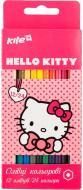Олівці кольорові двосторонні 12 шт./24 кольори HK17-054 Hello Kitty