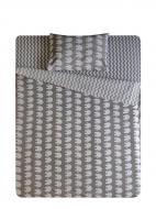 Комплект постільної білизни Слоники сірі 2,0 білий із сірим UP! (Underprice)