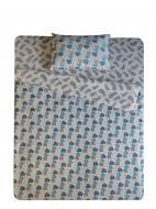 Комплект постільної білизни Слоники блакитні 2,0 білий із малюнком UP! (Underprice)