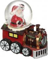 Декорація новорічна Куля Дід Мороз на потязі led 4,5 см ZY17494K-1-2