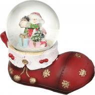 Декорація новорічна Куля Сніговик на чобітку 6,5 см ZY16865K