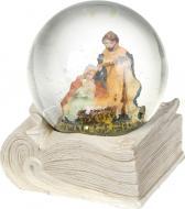 Декорація новорічна Різдвяний сувенір Куля на книзі 6,5 см ZY17581K