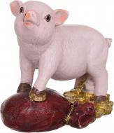 Декорація новорічна Сувенір Свинка на мішку 10х7,5 см ZY2177A