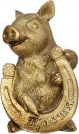 Декорація новорічна Сувенір Свинка з підковою 5,6х9 см ZY0917122A-2G