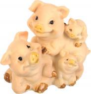 Декорація новорічна Сувенір Сім'я свинок мультиплікаційних 9х6 см ZY-J3324