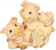 Декорація новорічна Сувенір сім'я свинок мультяшних 7х6 см ZY-J3325