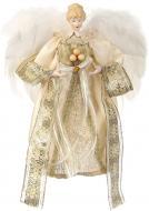 Мягкая игрушка Ангел текстильный серебряно-золотистый A1809A/B 30 см
