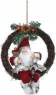 Декоративна фігура Дід Мороз лісовий на віночку S1811D 30 см