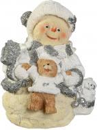 Декоративна новорічна фігура Сніговик і ведмідь 20 см 950637 20 см