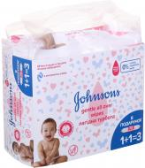 Дитячі вологі серветки Johnson's Baby Лагідна турбота 216 шт.