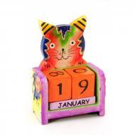 Календарь настольный Кот дерево (10х7х4 см) 29676