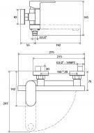 Змішувач для ванни Ravak CHROME CR 022.00/150 X070042