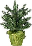 Ялинка штучна Різдвяна в горщику 45 см 9102 темно-зелений