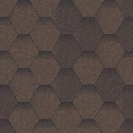 Битумная черепица Aquaizol Мозаика коричневая (микс) 3 кв.м