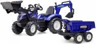 Трактор з причепом Falk Ranch синій 3090W