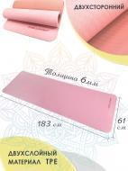 Килимок для йоги та фітнесу ONHILLSPORT TPE-0235 183x61x0,6 см рожево-персиковий