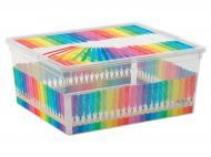 Ящик для зберігання KIS 244713 Colours Arty M 18 л 170x400x340 мм