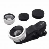 Набор объективов Primo Lens Silver 3 в 1 для смартфонов Черный (3274-11197)