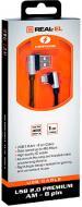 Кабель Real-el 1 м чорний (USB 2.0 Premium AM-8pin 1m, bl)