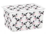 Ящик для зберігання KIS 241689 Cute Animals XL 50 л 310x550x390 мм