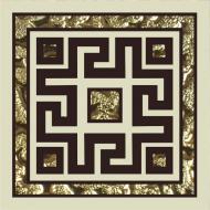 Плитка Grand Kerama вставка Тако Lumia Геркулес золото 8x8