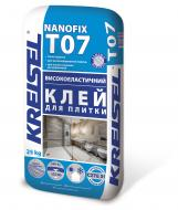 Клей для плитки та мозаїки KREISEL високоеластичний NANOFIX T07 25кг