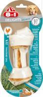 Ласощі 8in1 Кістка для чищення зубів з м'ясом Delights M 1 шт.
