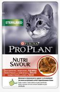Корм Purina Pro Plan Sterilised Nutrisavour с говядиной 85 г