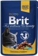 Корм Brit Premium з куркою та індичкою 100 г