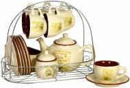 Сервіз чайний Квітник 16 предметів на 6 персон