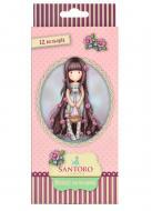 Олівці кольорові Santoro Rosebud 12 шт. 290564 YES