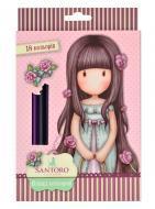 Олівці кольорові Santoro Rosebud 18 шт. 290567 YES