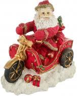Декоративна фігура Дід мороз на мотоциклі 23 см