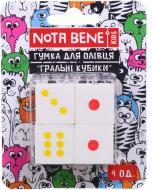 Гумка для олівців Гральні кубики 4 шт Nota Bene