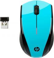 Миша HP X3000 WL (K5D27AA) aqua blue