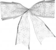 Набір новорічного декору Бантики 2 шт. срібні 0711
